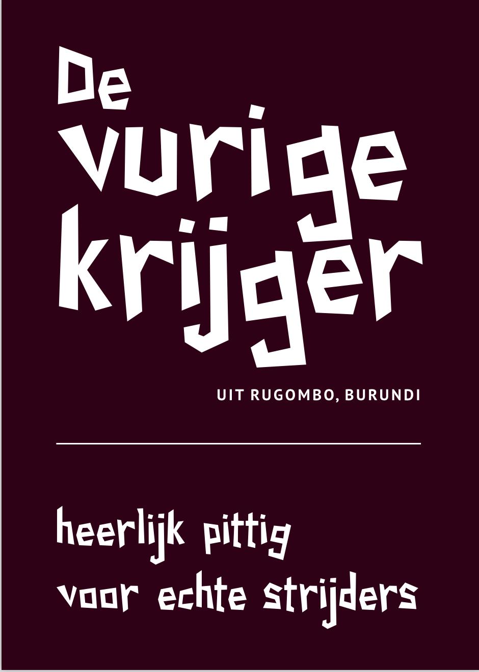 De Vurige Krijger, een pittige Pure Africa koffie uit Burundi