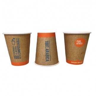 Biologisch afbreekbare coffee cups van Pure Africa Coffee