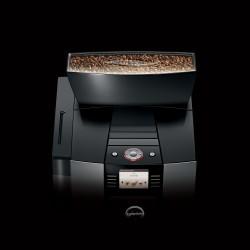 Er past een hele zak koffiebonen in het bonenreservoir van de GIGA X3.