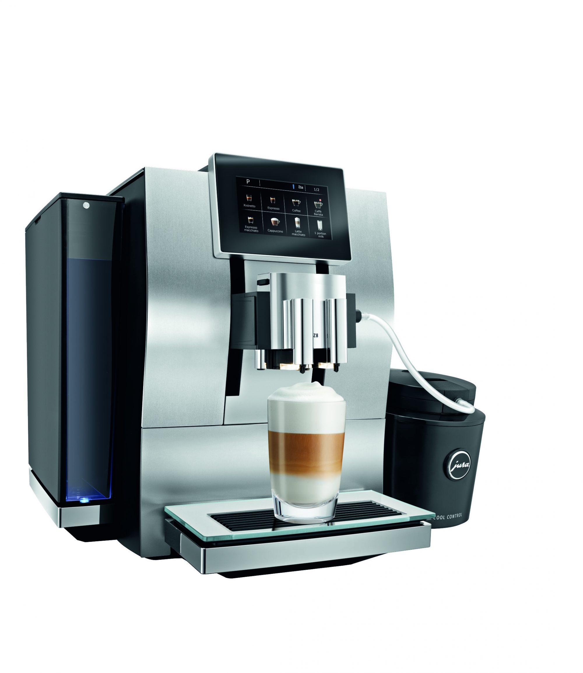 Met de Z8 zet je heel snel een latte macchiato of cappuccino