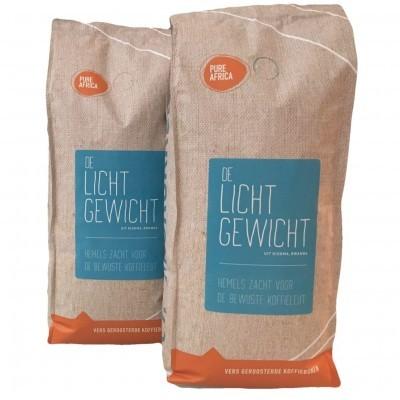 2 x 1 kilo Lichtgewicht Arabica koffiebonen uit Rwanda
