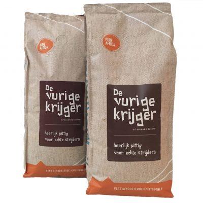 Twee kilo Vurige Krijger koffie uit Burundi