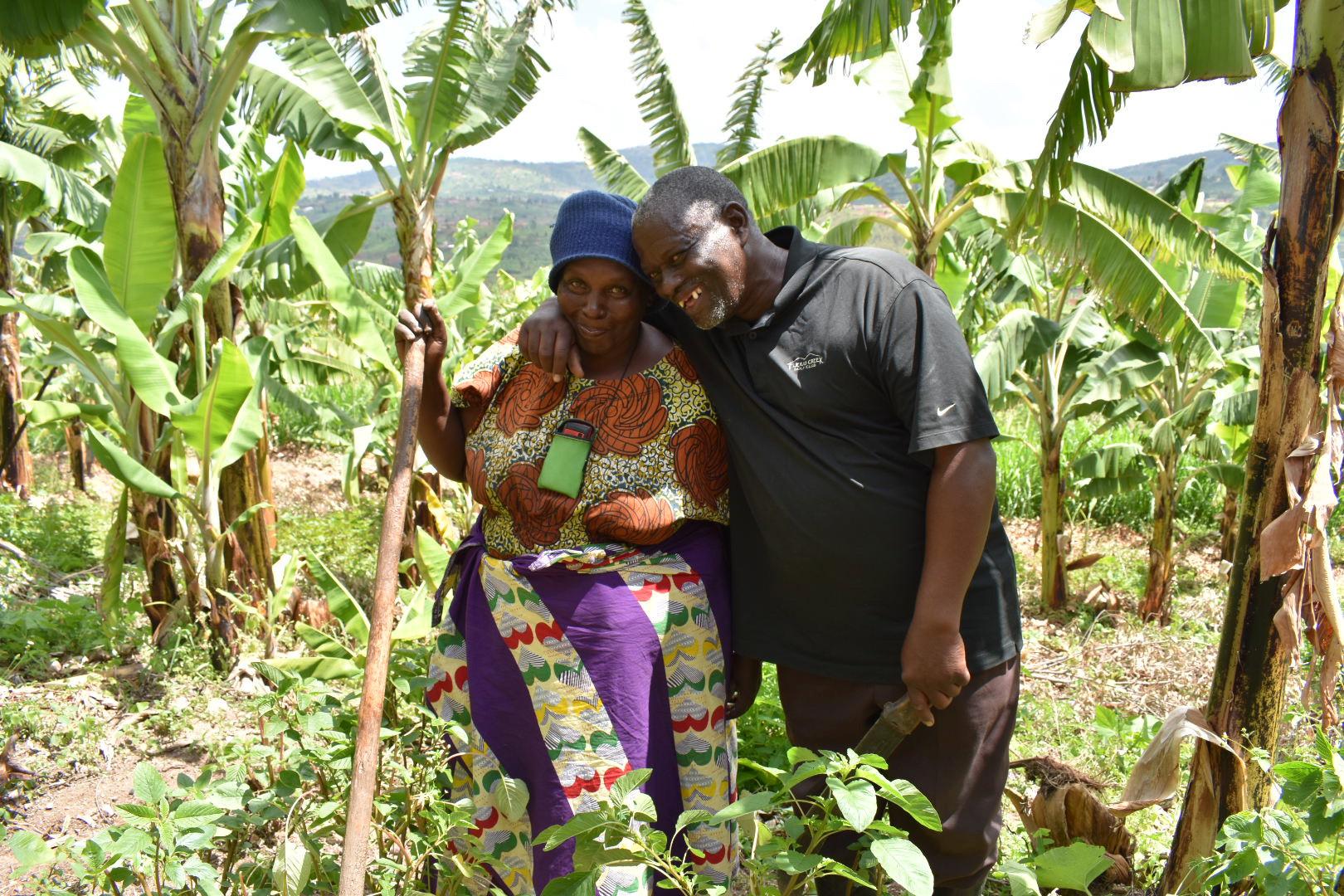 Sindambiwe heeft een Pure Africa microkrediet