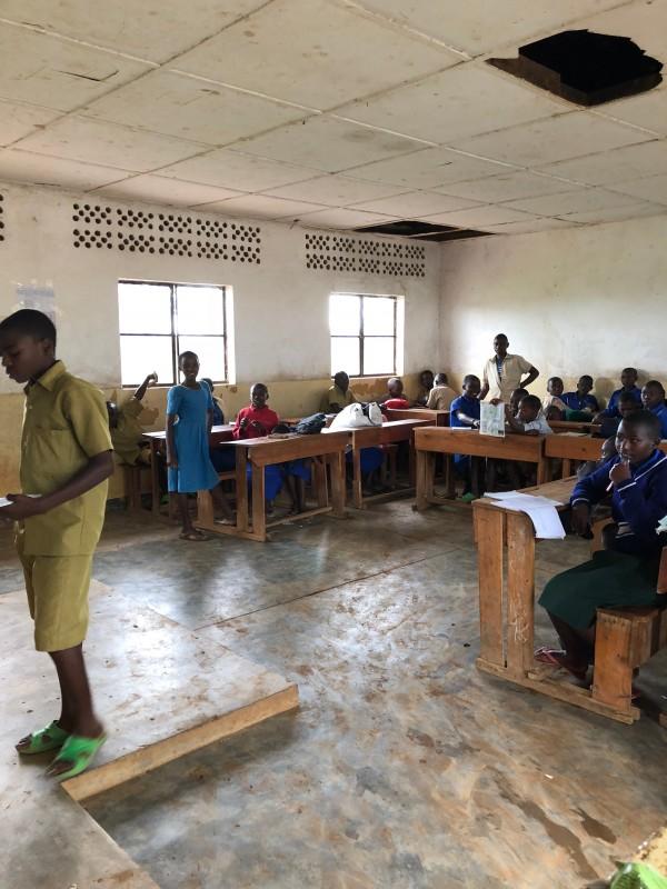 De klas van Beatrice in Mugina in Rwanda