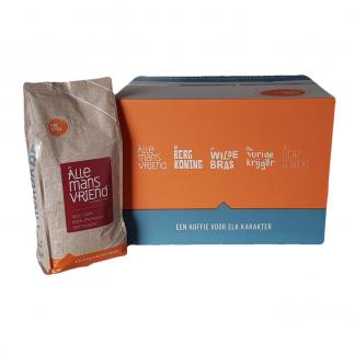 Bestel Arabica koffie per doos van 8 en krijg korting op De Allemansvriend