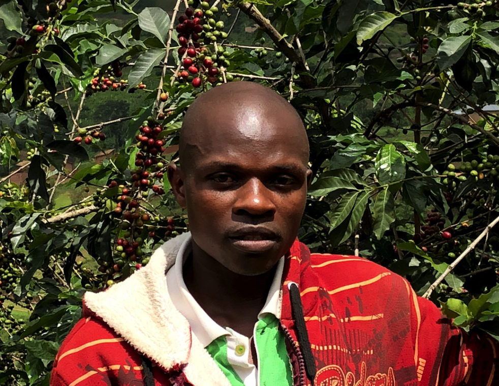 Jean de Dieu heeft een microkrediet in Afrika