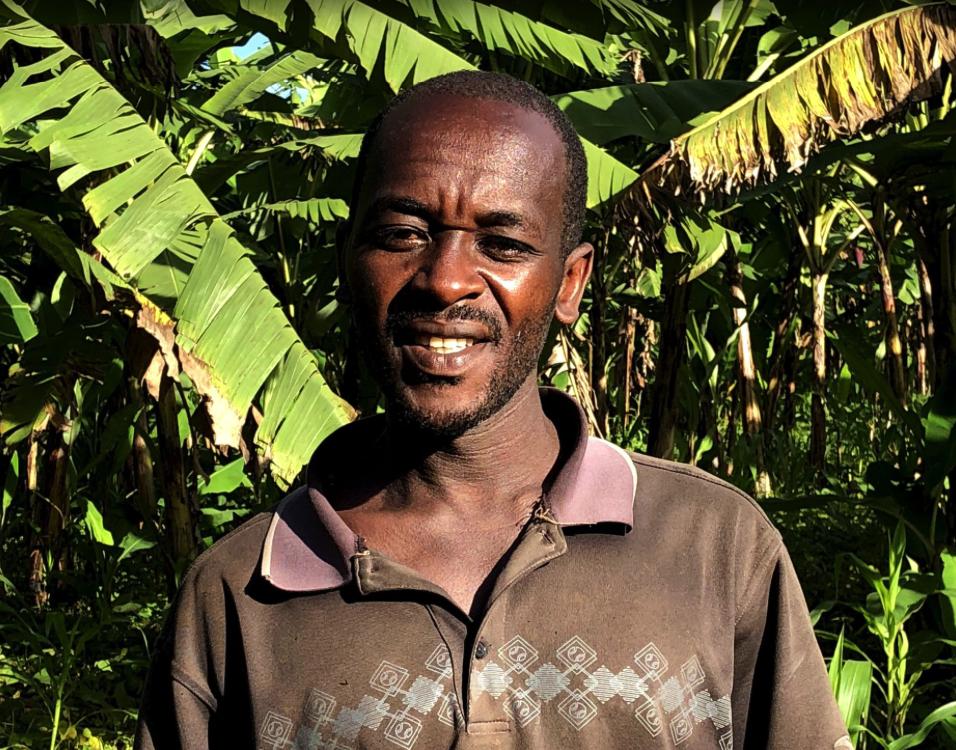 Protogeze heeft een bananenplantage in Afrika